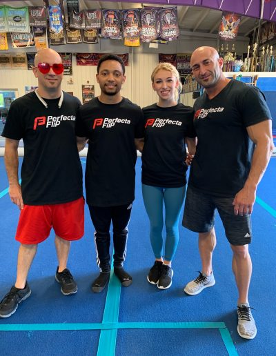 Our coaches at a Perfecta Flip Camp